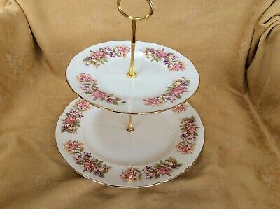 Colclough Wayside 2 Tier Cake Stand • 7£