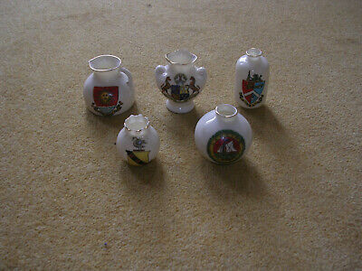 Five Pieces Of Arcadian China With Assorted Crests • 1.49£