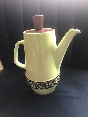 CARLTON WARE Lime Green  'TAPESTRY AND DAISY CHAIN' COFFEE POT [2710] • 9.99£