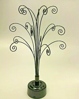 Black Rotating Display Tree For Swarovski Crystal Snowflakes / Stars Ornaments   • 26.99£