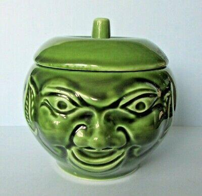 Fab Vintage Bassware Pottery Apple Sauce Face Pot Jar - England • 13.95£