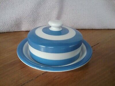 Vintage Retro TG Green Pottery Butter/Cheese Dish Cornishware 1920/30 • 36£