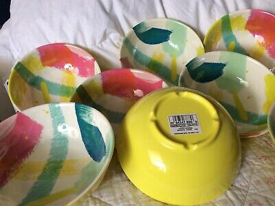 M & S Melamine Bowls (cereal) Bnwt • 12£