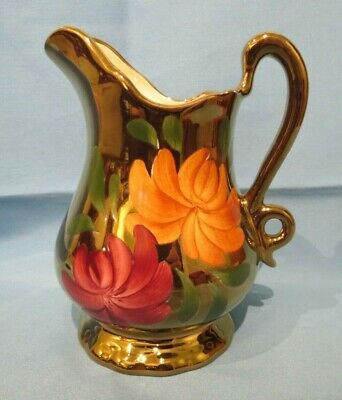Stunning Old Court Lustre Ware Hand Painted Pottery Jug (1930s) 17cm Tall - VGC • 14£
