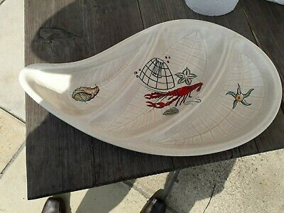 Crown Devon Oceania Fieldings Three Compartment Dish With Lobster Decor 38.5 Cm • 19.99£