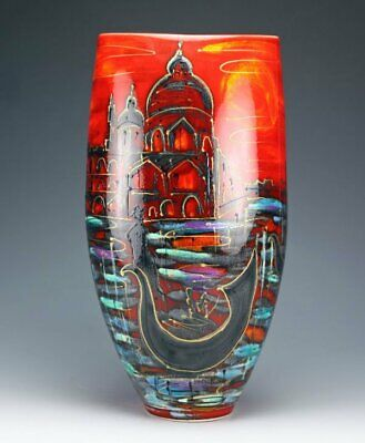 Anita Harris Art Pottery, Magnificent Large Venice Vase, Silver Signed • 99£