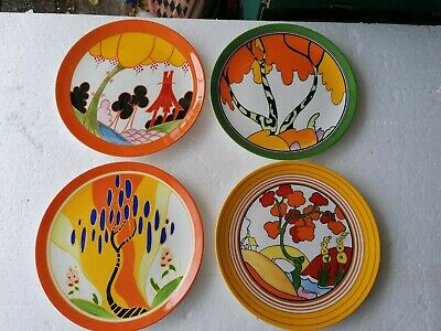 Clarice Cliff Bizarre By Wedgewood 4 Plates • 100£