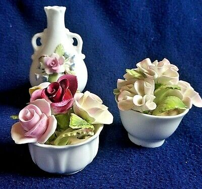 Stunning Fine Bone China - COALPORT FLOWERS - 3 PIECES -  £4.99  • 5.50£