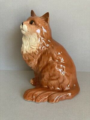 Beswick 1867 Large Ginger Long Haired Cat • 25£