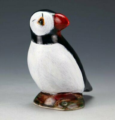 Anita Harris Art Pottery, The Small Puffin Figure, Gold Signed • 29.99£