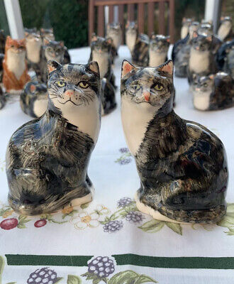 A Beautiful Old Pair Of Tortoise Shell Babacombe Cats. Perfect Condition !!!! • 12.95£