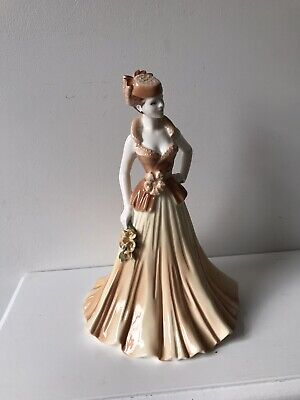 Coalport Ladies Of Fashion Yvonne Porcelain Figurine 8 3/4  Inches Tall Boxed • 20£