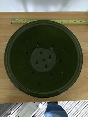 Pottery Glazed Green Colander And Stand Gorgeous Excellent Condition  • 17.99£