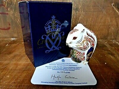 Royal Crown Derby 'STONEY MIDDLETON SQUIRREL' Paperweight. Rare Limited Edition. • 150£