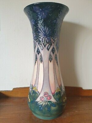 %% Outstanding %% Large 12  Moorcroft  Cluny  Vase. By Sally Tuffin. 1992.  • 235£