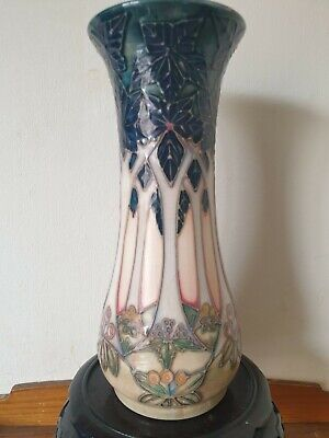 %% Attractive %% 8.25  Moorcroft  Cluny  Vase. By Sally Tuffin. 1994.  • 20£