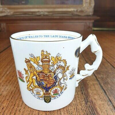 Aynsley 'The Marriage Of Prince Of Wales & Lady Diana' Commemorative Mug • 4.50£