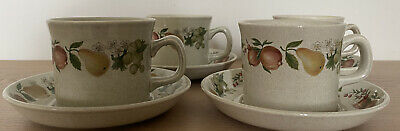 Wedgwood Quince Design 4 X Cups & Saucers Set • 10£
