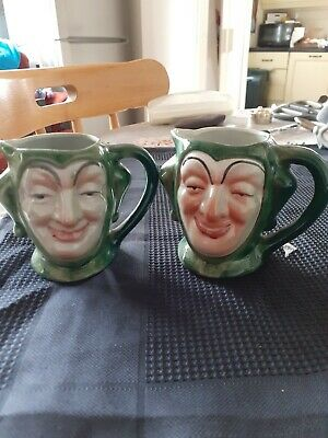 Decorative Collectable Toby Jugs X 2 • 2.50£