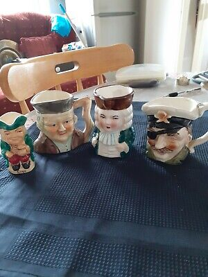 Joblot Of Collectable Decorative Vintage Toby Jugs X 4 • 4.10£