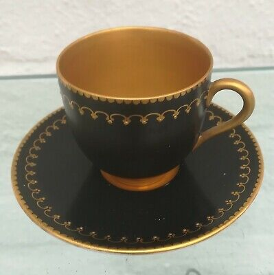 Vintage Royal Worcester Guilded Coffee Cup And Saucer / Demitasse • 22.99£