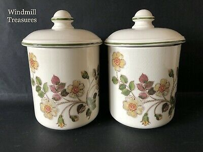 Marks & Spencer Autumn Leaves Round Topped Storage Jars - Great Condition • 9.99£
