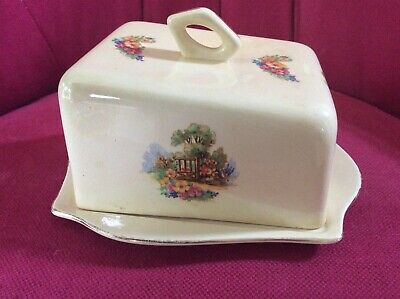 Beswick England A Somerset Cottage Cheese Dish & Cover • 8£