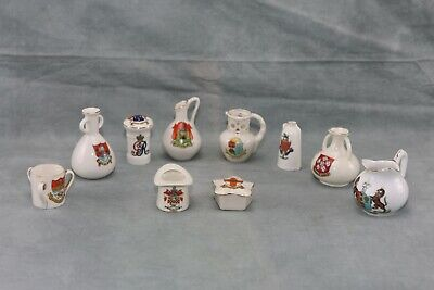 Crested China Puzzle Jug And 9 Other Items • 7.50£