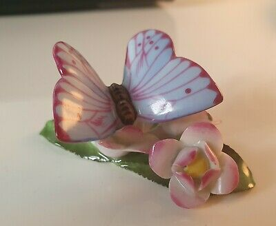 Herend Hungarian Porcelain Hand Painted Butterfly *RARE* • 28£