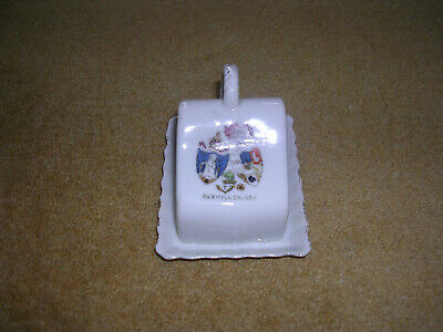 Crested China Butter Dish With Cover,  Bexhill-On-Sea  • 1.25£