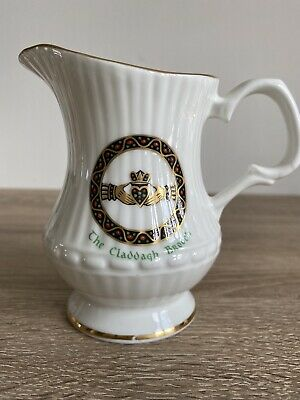 Royal Tara Fine Bone China Milk / Cream Jug - The Claddagh Brooch Design • 14£