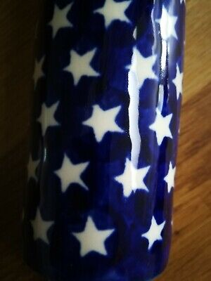 Boleslawiec Polish Pottery. Rolling Pin. Decorative/Collectable. Blue And White • 2.20£