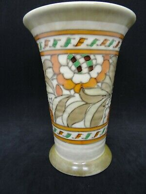 Tudor Rose Vase, Crown Ducal, Signed By Charlotte Rhead, Made In 1935/36 • 45£