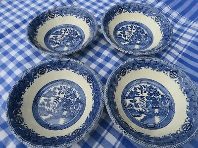 Rayware Blue & White Willow Pattern Soup / Cereal Bowls X 4 • 9.95£