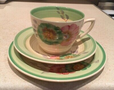 Clarice Cliff Honeydew Cup Saucer Plate Trio • 135£