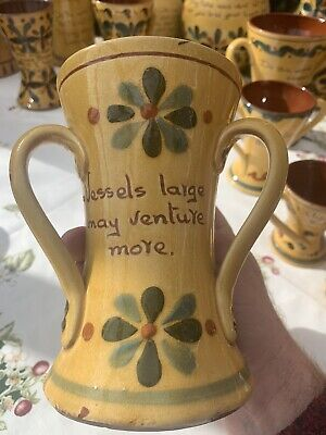 Aller Vale Yellow Glazed Motto Ware Tyg. Tall And Beautiful !!! • 14.50£