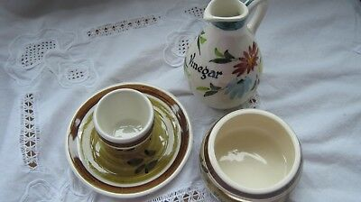 Toni Raymond Pottery Vinegar Jug/egg Separator/egg Cup With Attached Saucer • 4.99£
