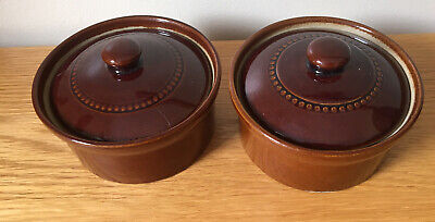 2 X Pearsons Of Chesterfield Small Casserole Dishes With Lids • 12.99£