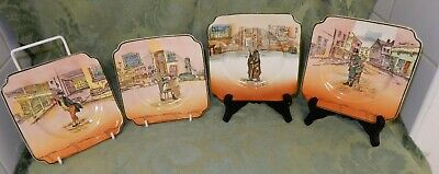 4 Vintage Royal Doulton Noke Dickens Ware Square Side Plates D.6327 • 11.99£
