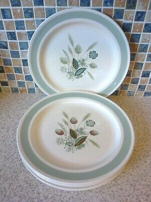 Woods Ware Clovelly Design 6 X Dinner Plates 10 Inches 26 Cm • 19.99£