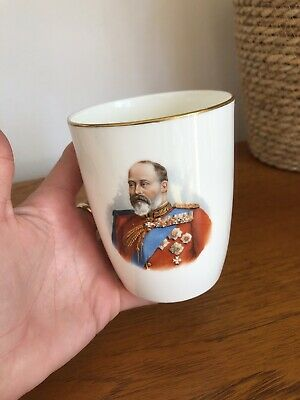 Antique Rare Royal Doulton Beaker For The 1902 Coronation Of Edward VII • 19.99£