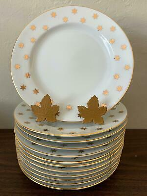 American Atelier STARS PARTY TIME Set 6 Salad / Dessert Plates Free Shipping ! • 32.83£