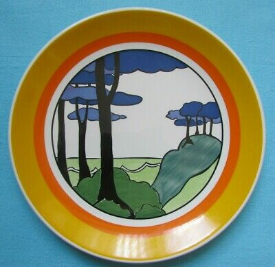10  Wedgwood Clarice Cliff Bizarre *blue Firs* Plate - Limited Edition Charger • 42£