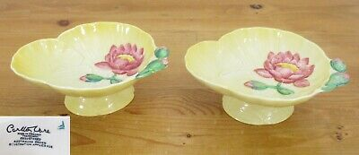 Vintage Carlton Ware Australian Design Water Lily Pattern Footed Dishes X2 • 10£