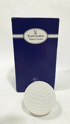 Vintage 1995 Royal Doulton Crystal Glass Golf Ball Gift Sporting Paperweight DAD • 4.99£