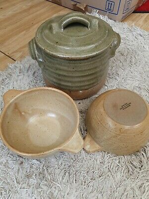 Stoneware Soup Bowls & Pot Made In France. • 4£