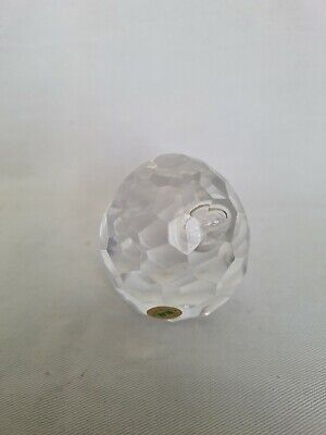 Tyrone Crystal Faceted Control Bubble Egg Shaped Paperweight • 25£
