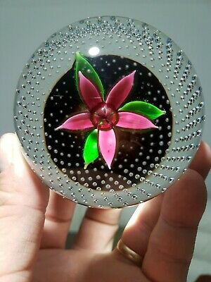 Caithness Paperweight Pink Green 'Flower In The Rain' Beautiful  • 19.90£