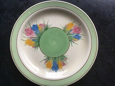 "A Clarice Cliff 6.5"" Side Plate   Spring Crocus  Pattern 1940's. • 10£"