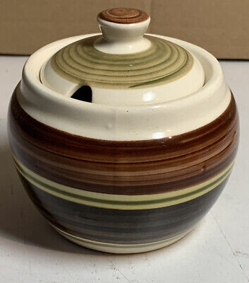 Vintage Dragon Pottery Wales Rhayader Small Pot With Lid • 1.95£